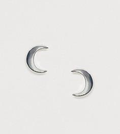 Серебряные серьги-гвоздики в форме полумесяца ASOS DESIGN - Серебряный