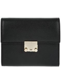 Черный кошелек из натуральной кожи Emporio Armani