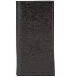 Кожаное портмоне с кармашками для пластиковых карт Emporio Armani