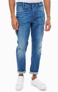 Синие джинсы с заломами и потертостями D-Staq G Star Raw