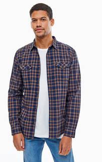 Хлопковая рубашка в клетку с карманами Wrangler