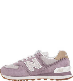 Замшевые кроссовки с текстильными вставками 574 New Balance