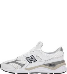 Белые кроссовки со светоотражающими вставками Х-90 New Balance