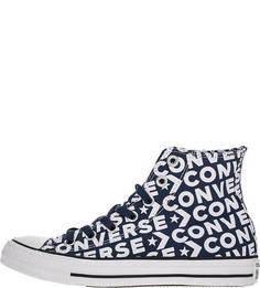 Текстильные кеды с логотипом бренда Converse