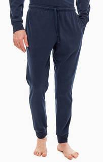 Хлопковые домашние брюки с карманами Emporio Armani