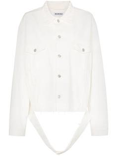 Balenciaga джинсовая куртка оверсайз с отрезанным поясом
