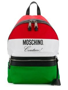 Moschino Nylon Moschino flag backpack