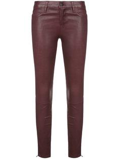 J Brand брюки скинни с эффектом мокрой ткани