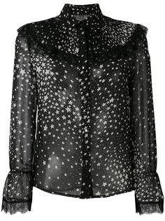 Jovonna star print long-sleeve blouse