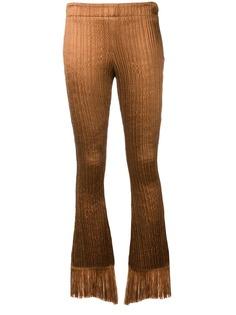 Chloé фактурные брюки с бахромой