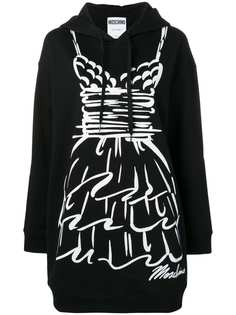Moschino graphic hoody dress