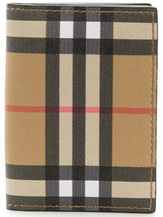 Burberry checked card wallet