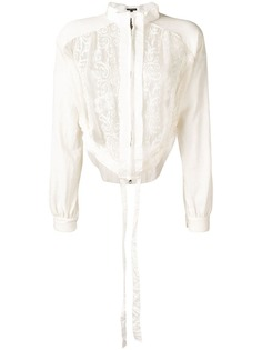 Ann Demeulemeester floral embroidered cropped jacket