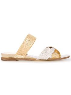 Casadei braided strap flat sandals