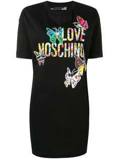 Love Moschino butterfly logo shift dress