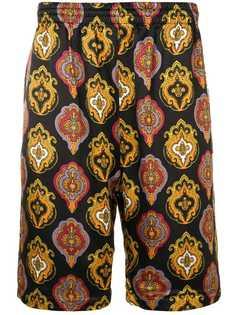Stussy плавки-шорты с принтом в стиле барокко