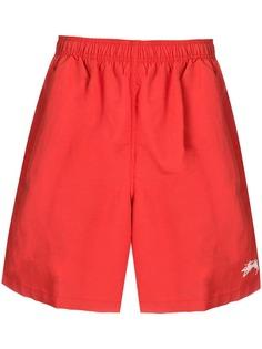 Stussy плавки-шорты с нашивкой-логотипом