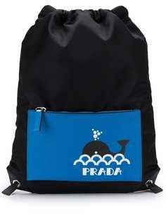 Prada рюкзак с принтом кита