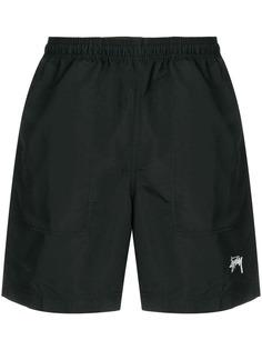 Stussy плавки-шорты с контрастным логотипом