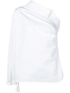 Max Mara one shoulder poplin shirt