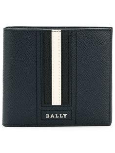 Bally кошелек с логотипом и полосатой вставкой
