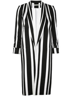 Alice+Olivia long blazer with stripes