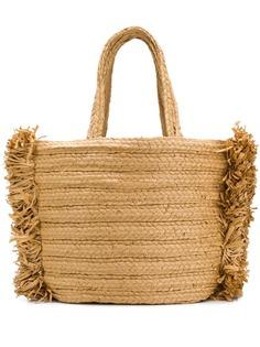 Dorothee Schumacher соломенная сумка-тоут с бахромой по бокам
