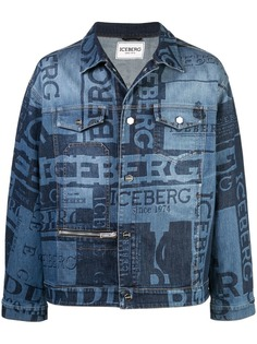 Iceberg logo print denim jacket