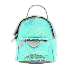 Рюкзак LADY PINK голубые пайетки