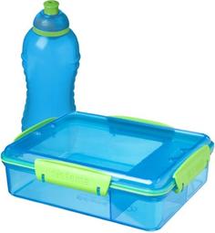 Контейнер с разделителем и бутылка для воды Sistema