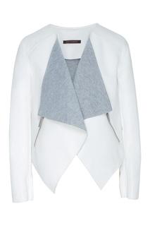 Белая куртка с мягким воротником Adolfo Dominguez