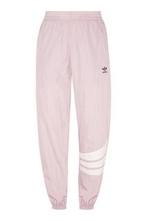 Бело-сиреневые спортивные брюки Adidas