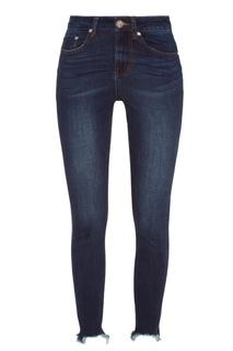 Синие джинсы скинни с необработанным краем One Teaspoon