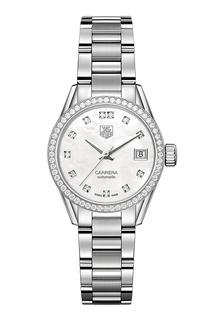 CARRERA Calibre 9 Автоматические женские часы с белым перламутровым циферблатом Tag Heuer