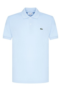 Голубое поло с логотипом Lacoste