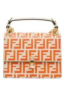 Оранжево-белая мини-сумка Kan I Small Fendi