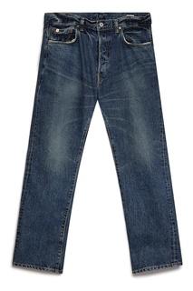 Синие джинсы с потертостями Edwin