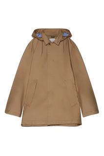 Коричневая куртка с капюшоном Nanamica