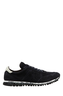 Бело-синие замшевые кроссовки Sean Premiata