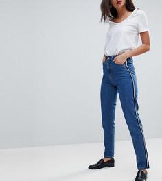 Джинсы в винтажном стиле с лентой по бокам Vero Moda Tall - Синий