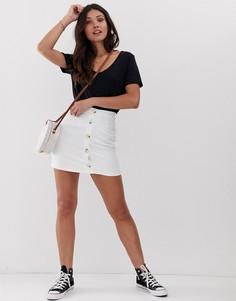 Мини-юбка с пуговицами Parisian - Белый