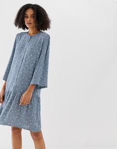 Платье-рубашка без воротника с цветочным принтом Minimum - Мульти