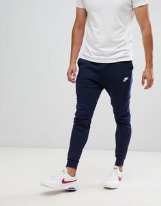 Темно-синие флисовые джоггеры Nike 805162-455 - Темно-синий