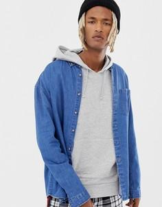 Синяя выбеленная джинсовая oversize-рубашка COLLUSION - Синий