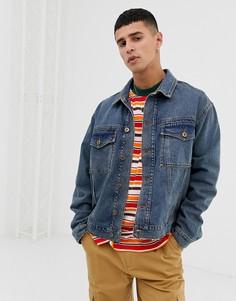 Выбеленная синяя джинсовая куртка COLLUSION - Синий
