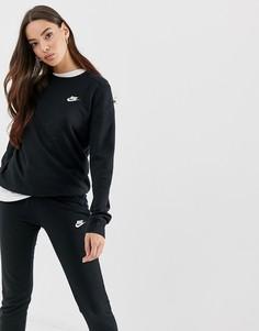 Черный свитшот Nike Club - Черный