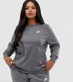 Серый свитшот Nike Club Plus - Серый