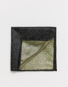 Платок для пиджака в горошек металлик Moss London - Золотой