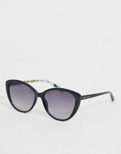 Черные солнцезащитные очки кошачий глаз Ted Baker - Черный