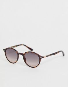 Круглые солнцезащитные очки в черепаховой оправе Ted Baker - Коричневый